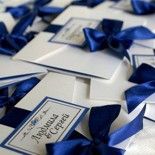 kods: 105 tumši zils ar iedrukātu tekstu uz ielūguma pamatnes / cena: 3,00